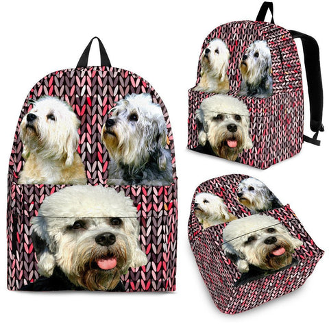 Dandie Dinmont Terrier Dog Print BackpackExpress Shipping