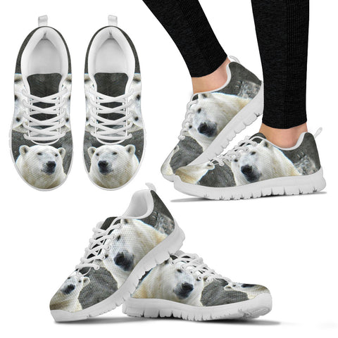 Amazing Polar Bear Print Running Shoes For Women