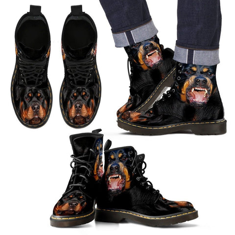 Rottweiler Print Boots For MenExpress Shipping