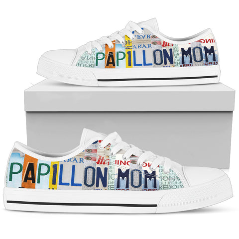 Cute Papillon Mom Print Low Top Canvas Shoes For Women