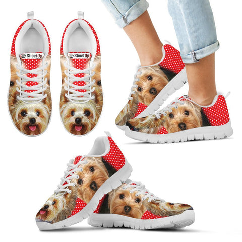 Yorkshire Terrier Print Running Shoes For Kids