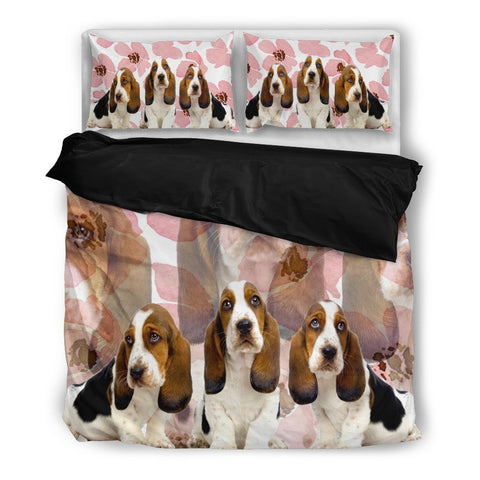 Cute Basset Hound Bedding Set