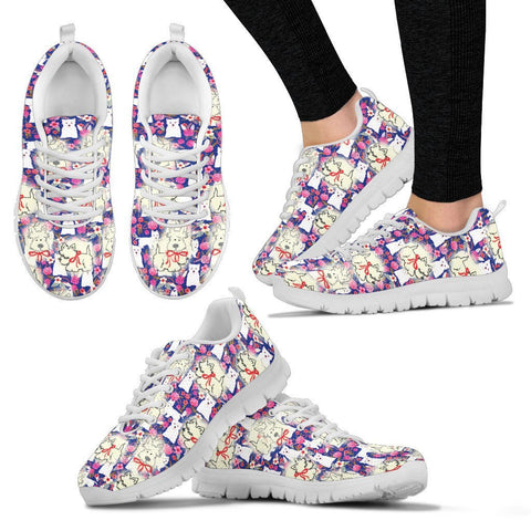 West Highland White Terrier Pattern Print Sneakers For Women Express Shipping