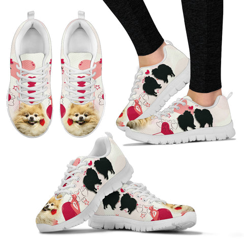 Valentine's Day Special Pomeranian Dog Print Running Shoes For Women
