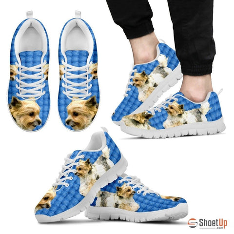 Customized Dog Print (Black/White) Running Shoes For Men design by Shanan Roth Limited Edition