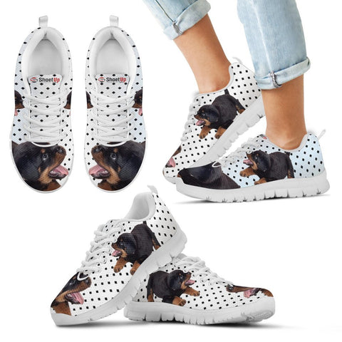 Rottweiler Black Dots Print Running Shoes For Kids