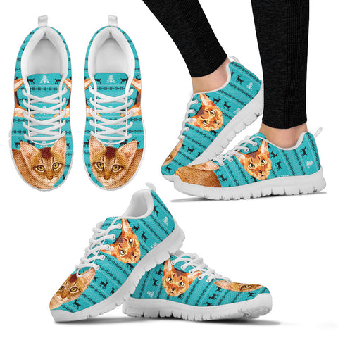 Abyssinian Cat Christmas Running Shoes For Women