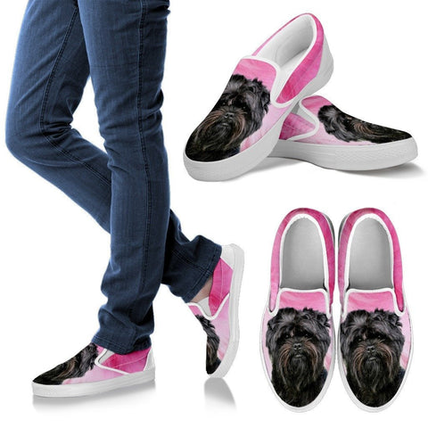 Affenpinscher Print Slip Ons For Women Express Shipping