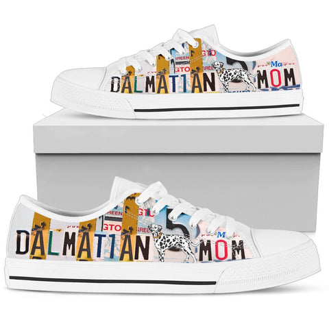 Dalmatian Mom Print Low Top Canvas Shoes for Women