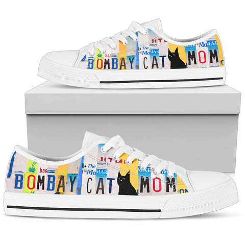 Women's Low Top Canvas Shoes For Bombay Cat Mom