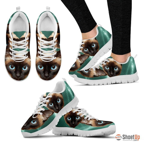 Siamese Cat Print Running Shoes For Women
