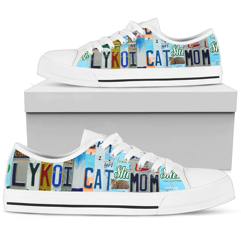 Lykoi Cat Print Low Top Canvas Shoes for Women