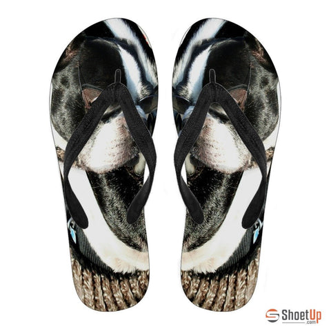 Boston Terrier Men's Flip Flops
