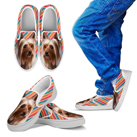 Silky Terrier Print Slip Ons For Kids Express Shipping