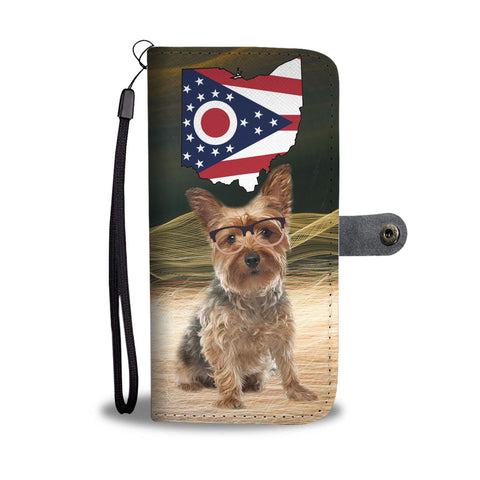 Yorkshire Terrier (Yorkie) Print Wallet CaseOH State