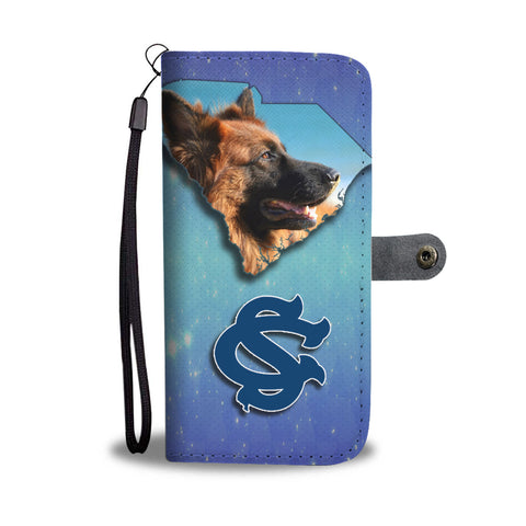 German Shepherd Dog Print Wallet CaseSC State
