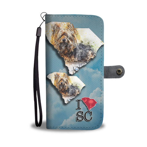 Cute Yorkie Art Print Wallet CaseSC State