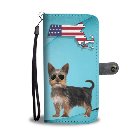 Yorkshire Terrier (Yorkie) Print Wallet CaseMA State