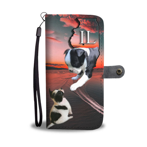 Amazing Boston Terrier Print Wallet CaseIL State
