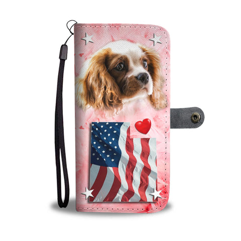 Cavalier King Charles Spaniel Print Wallet CaseUT State