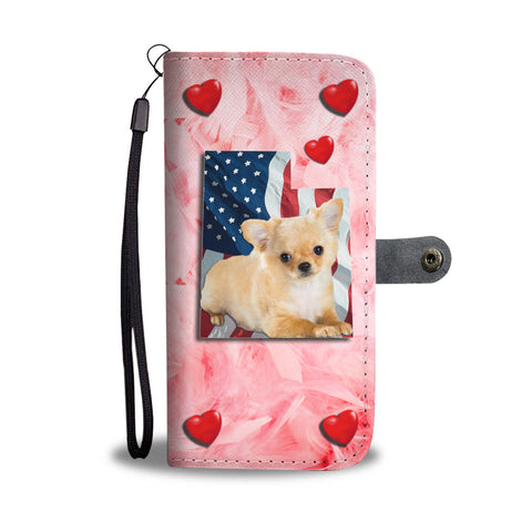 Lovely Chihuahua Print Wallet CaseUT State