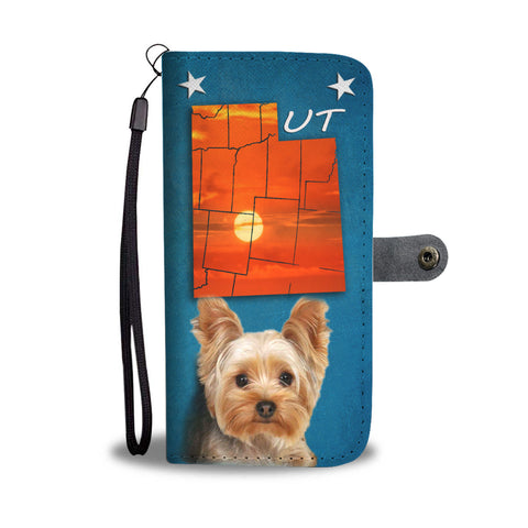 Yorkshire Terrier Print Wallet CaseUT State