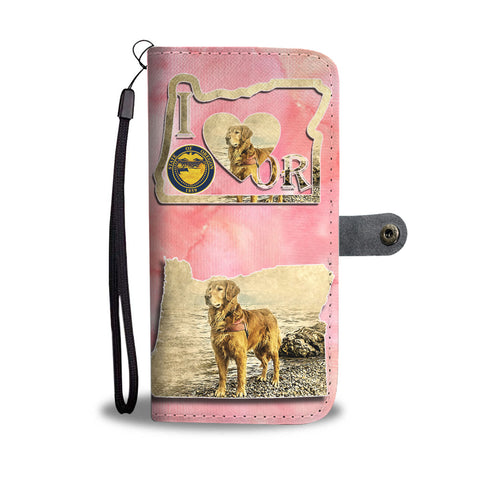 Golden Retriever Art Print Wallet CaseOR State