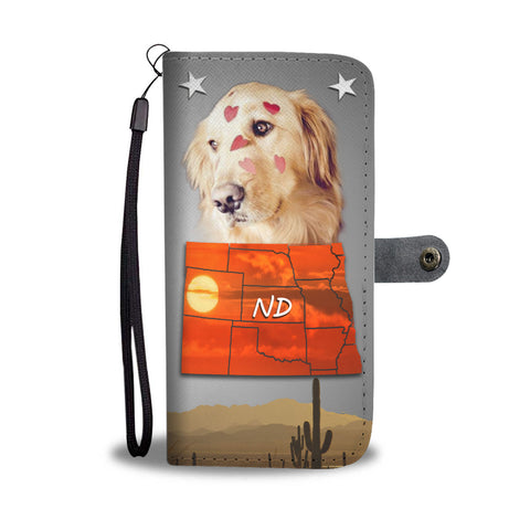 Golden Retriever Print Wallet CaseND State