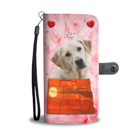 Lovely Labrador Retriever Print Wallet CaseND State