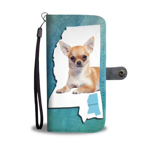Cute Chihuahua Dog Print Wallet CaseMS State