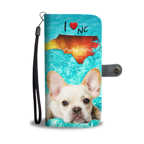 Lovely French Bulldog Print Wallet Case NC State