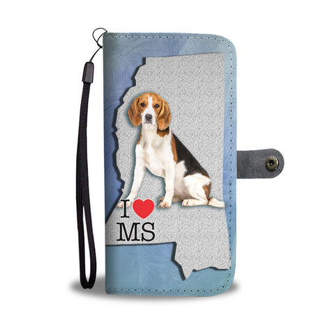 Amazing Beagle Print Wallet CaseMS State
