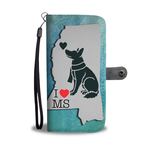 German Shepherd Art Print Limited Edition Wallet CaseMS State