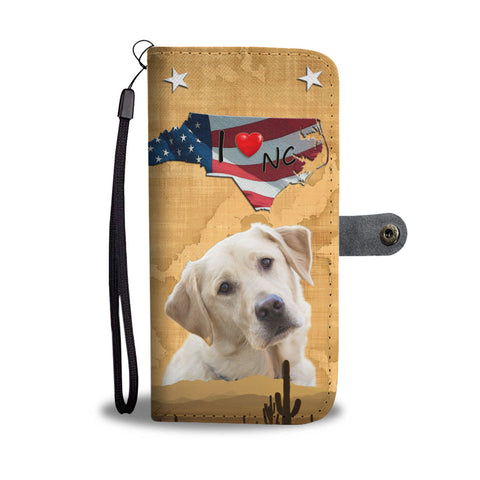 Lovely Labrador Retriever Print Wallet CaseNC State