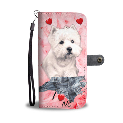 Cute West Highland White Terrier Print Wallet CaseNC State
