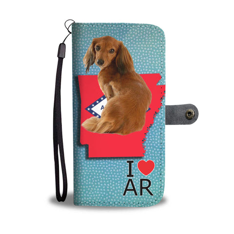 Lovely Dachshund Print Wallet CaseAR State
