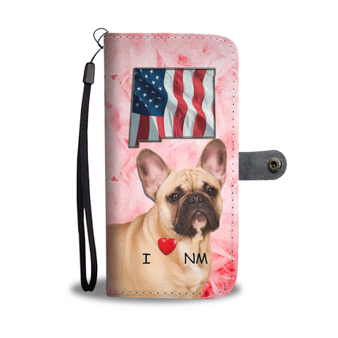French Bulldog Print Wallet CaseNM State