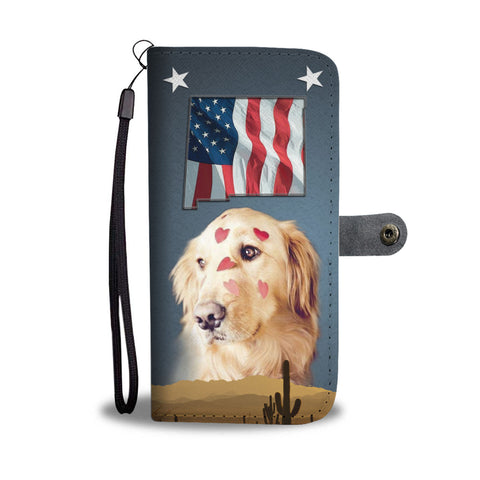 Golden Retriever Print Wallet CaseNM State