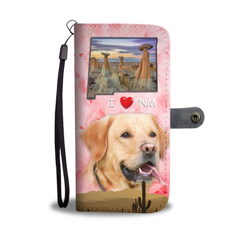 Lovely Labrador Retriever Print Wallet CaseNM State