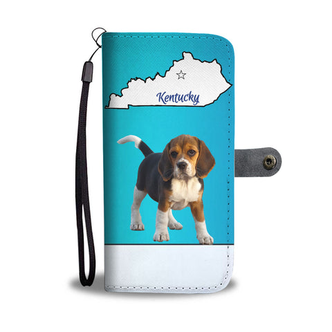 Beagle Print Wallet CaseKY State