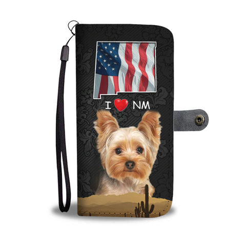 Yorkshire Terrier On Black Print Wallet CaseNM State