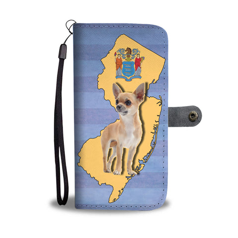 Cute Chihuahua Print Wallet CaseNJ State