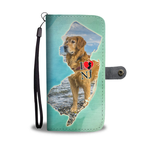 Golden Retriever Art Print Limited Edition Wallet CaseNJ State
