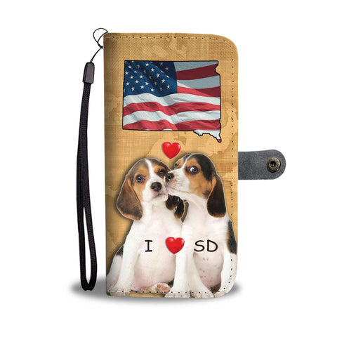 Lovely Beagle Dog Print Wallet CaseSD State