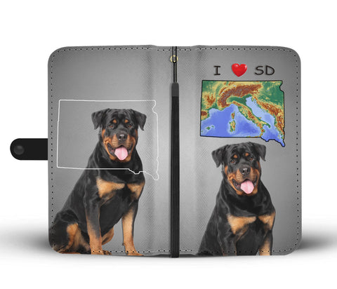 Rottweiler Dog Print Wallet CaseSD States
