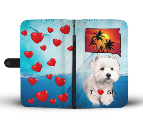 West Highland White Terrier Print Wallet CaseSD State