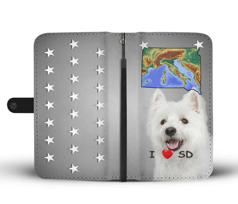 Lovely West Highland White Terrier Print Wallet CaseSD State