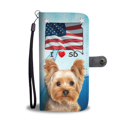 Yorkshire Terrier Print Wallet CaseSD State