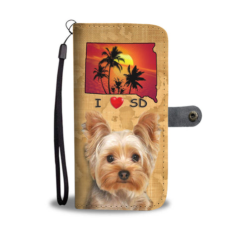 Lovely Yorkshire Terrier Print Wallet CaseSD State