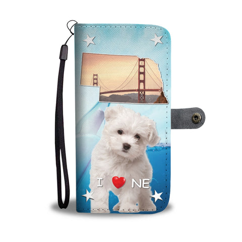 Lovely Maltese Dog Print Wallet CaseNE State